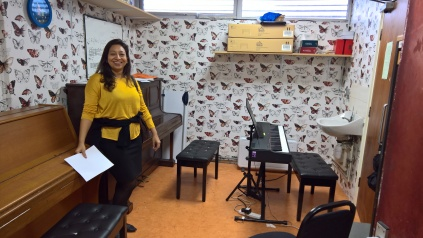 Highway Hope's music room