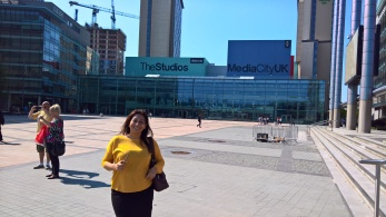 Claudia at Media City