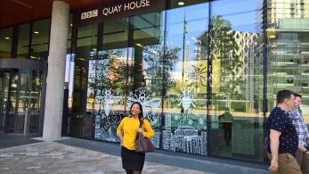 Claudia at the BBC